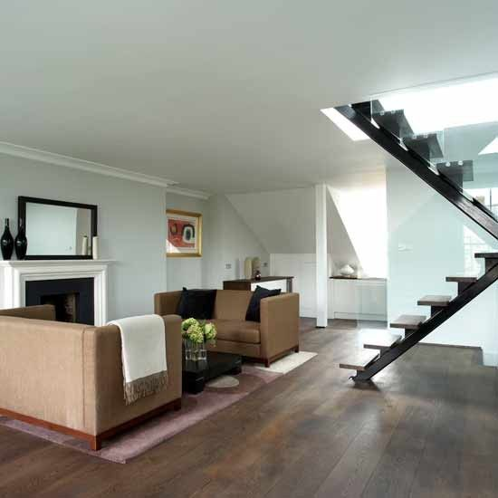 Modern city-chic open-plan living room | Living room ideas | Image | housetohome.co.uk