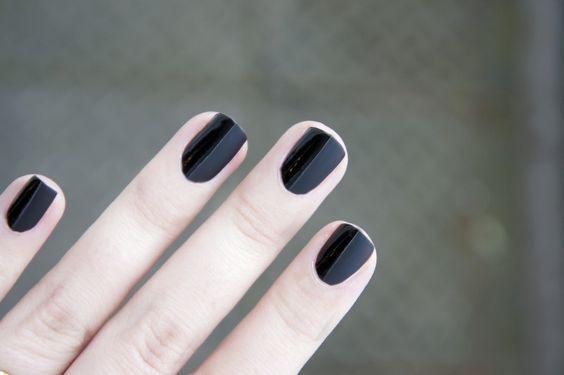 Black Half-MatteNails