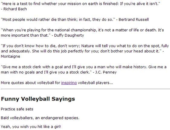 Volleyball quote to inspire and motivate players Cheers and - stock clerk job description