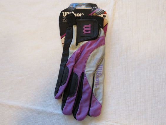 Wilson Performance Racquetball Glove Hyper ion womens M right leather purple…