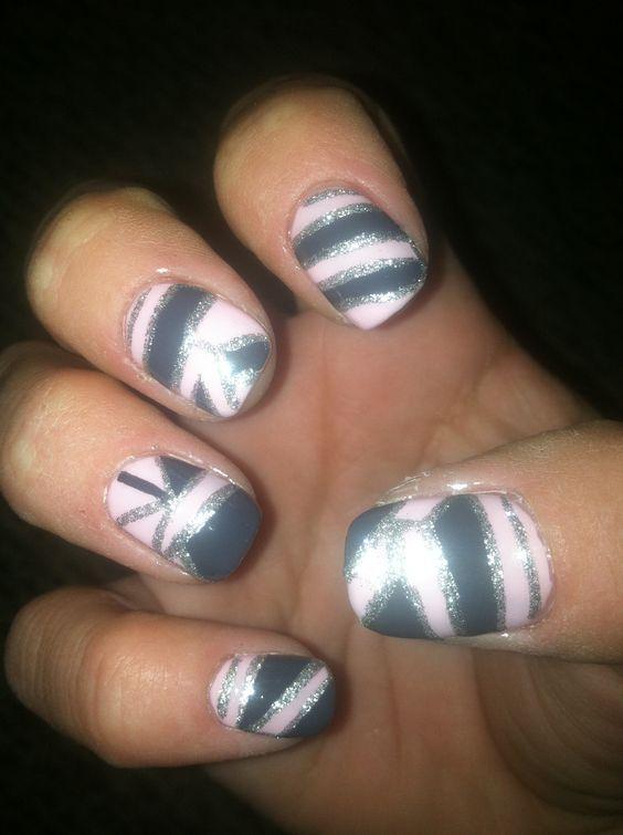 Nail art (my nails) 08/20/12 B