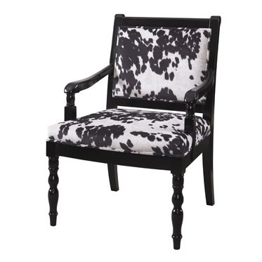 Cow Print Arm Chair Adds An Interesting Flair To Your