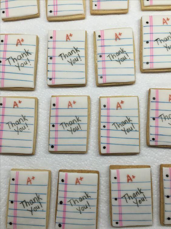 Fondant teacher appreciation cookies by Carmen