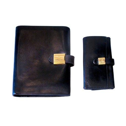 Hermes 1960s black wallet and key holder - $1695.
