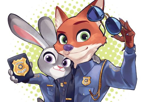 Judy Hopps and Nick Wilde in Zootopia: