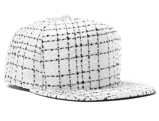 Leather Underbill Tweed Snapback Cap by DOPE