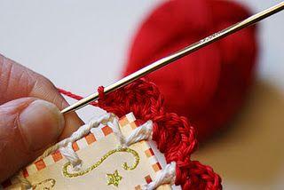 Crochet card edge tutorials.