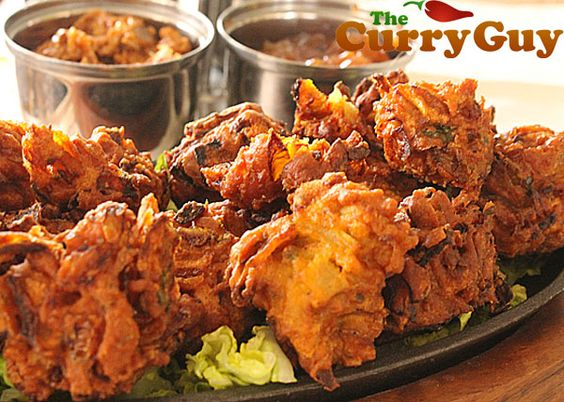 Home-made onion bhajis. This is an excellent recipe that I really love. The onion bhajis taste just like those at the best Indian restaurants.
