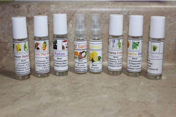 Label For Essential Oils And Spray Bottle On Pinterest