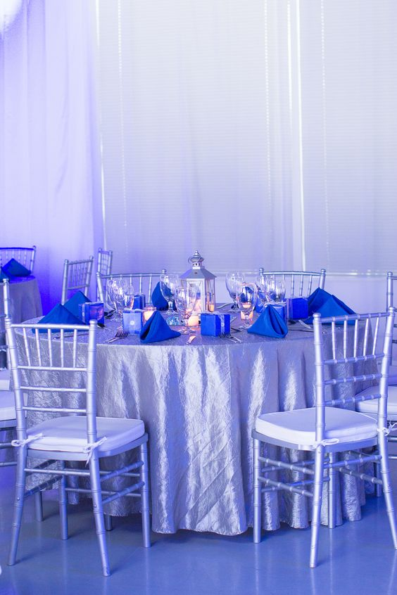 Blue Amp Silver Themed Birthday Party Heaven Event Center