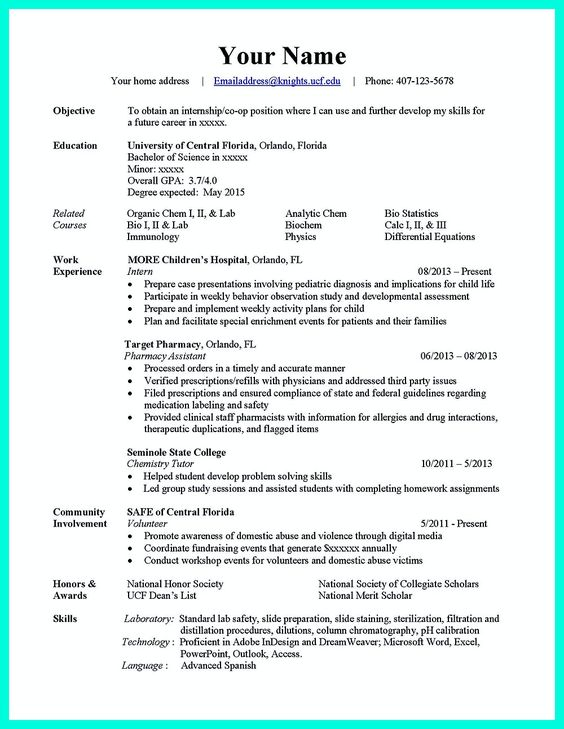 Computer Science Resume Skills Resume Sample For Computer Science Sample Resume  Resume Computer Science Curriculum Windows  Resume For Computer Science