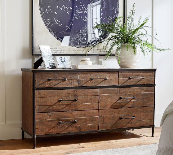 Juno Reclaimed Wood 7 Drawer Extra Wide Dresser In 2020 Master Bedroom Furniture Furniture Wide Dresser