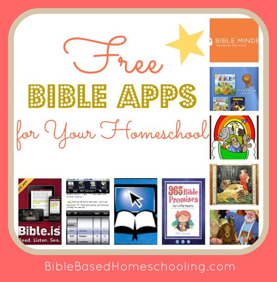 Bible Apps for Your Homeschool Itunes, Sunday school and