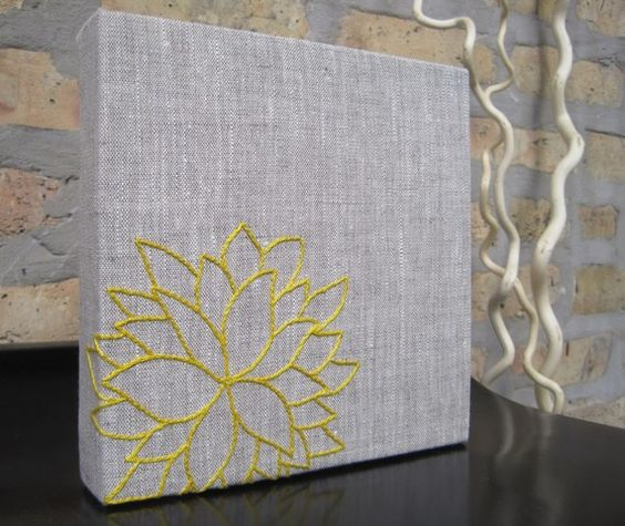 Gray canvas from Etsy.