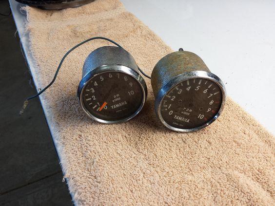 2 Tachometer Units for 1968 Yamaha DT 1 250 Enduro MX Ahrma Vintage RARE | eBay