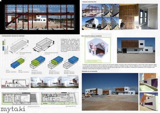"""""""Viviendas de bajo Coste y Alta Eficiencia Energética"""" Autores: Estudio Mytaki Arquitectura y Diseño"""