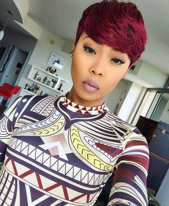 Cute Red Short Wigs For Black Women Human Hair Wigs Lace Front Wigs Hairstyles Short Weave Hairstyles Short Hair Styles Short Hair Styles Pixie