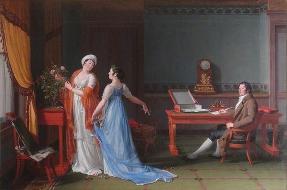 9. François-André Vincent (1746-1816) Portrait du comte de La Forest, de sa femme et de sa fille, 1804 Huile sur toile - 130 x 196 cm Karlsruhe, Staatliche Kunstalle Photo : Didier Rykner: