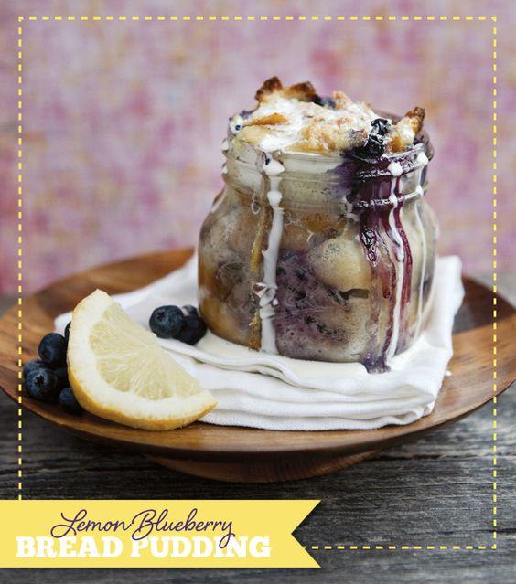 Desserts in Jars #Recipe: Lemon Blueberry Bread Pudding