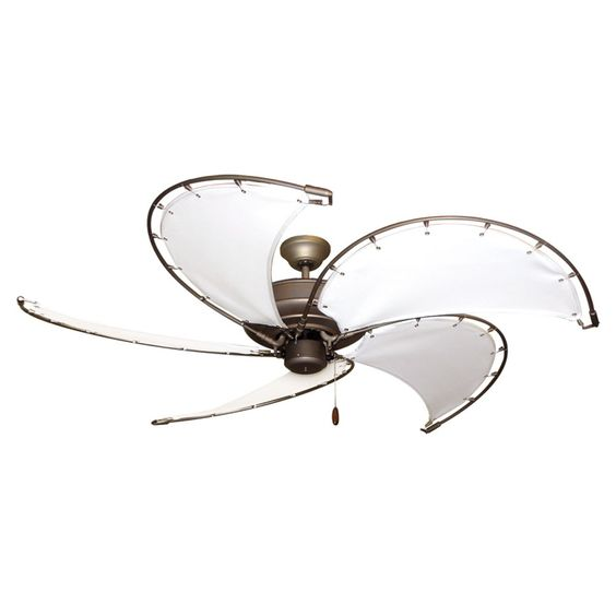 Ceiling fan nautical coastal 52 raindance nautical ceiling fan ant bronze sail blades 4 - Beach themed ceiling fan ...