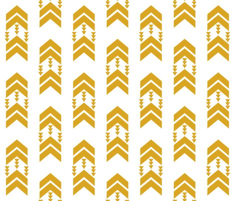 golden yellow chevron stripe fabric by charlottewinter