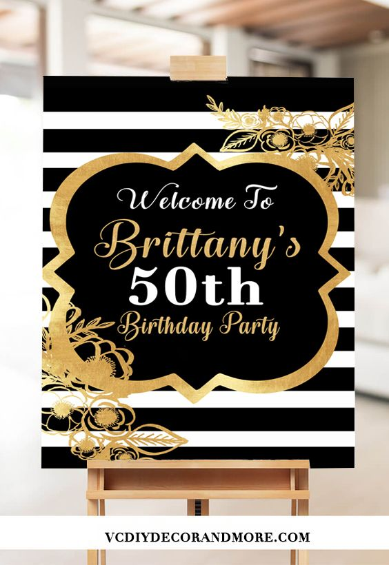 Party D\u00e9cor 50th Birthday Party Bunting Banner Personalized Birthday Party Bunting Banner /& Decorations Adult 50th Milestone