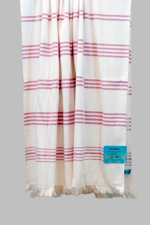 Fuchsia Cayman Turkish Towel Turkish Towels Coffee Table Cover