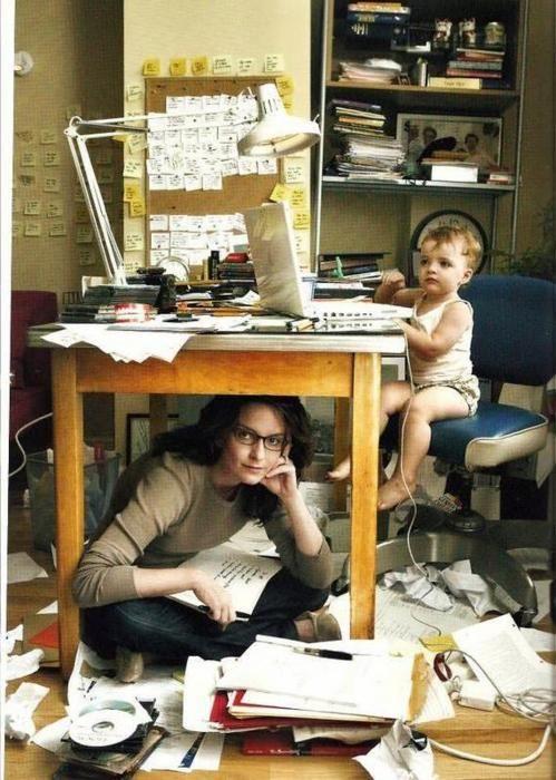 Tina Fay & Child