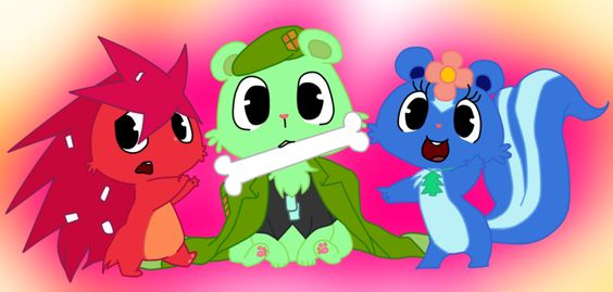 happy tree friends flippy x flaky anime - Google Search
