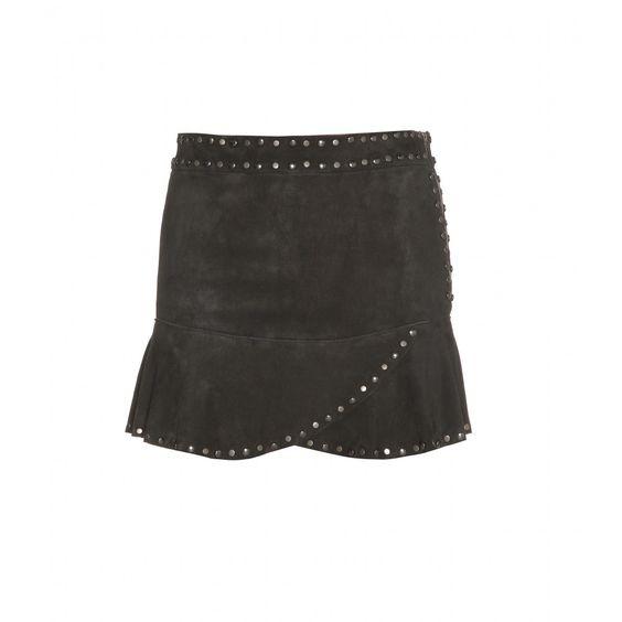 Ines Studded Suede Mini Skirt | Isabel Marant ♦ mytheresa