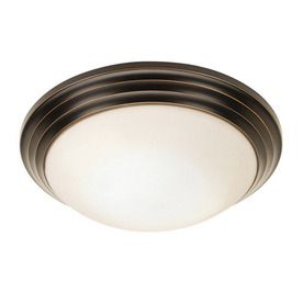 Need to replace and upgrade ceiling light fixtures in bathrooms  -- Oil rubbed bronze styles -- Access Lighting 10-in W Oil-Rubbed Bronze Ceiling Flush Mount (available at Lowes, Wayfair, Overstock)
