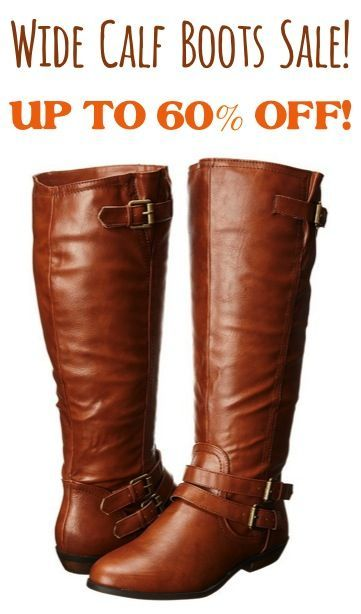 Wide Calf Women's Boots Sale! {the perfect addition to your Fall ...