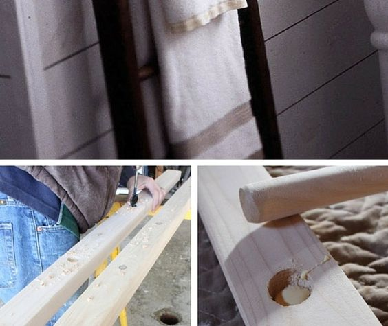 DIY Ladder Towel Rack | Industry Standard Design