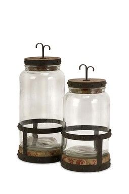 Sloan Lidded Canisters - Set of 2 Interesting canisters.