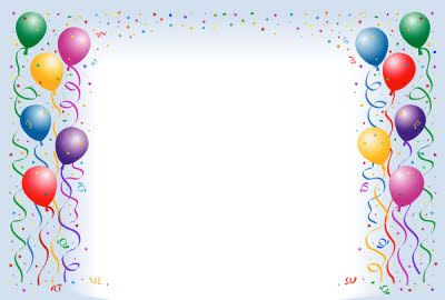 Images of Balloon Border Template Free - #SpaceHero
