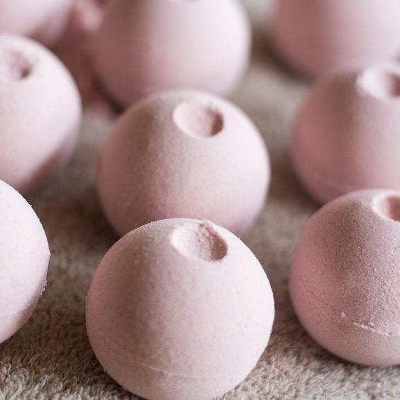 Rose Bath Bombs - Lupine Ridge Botanicals