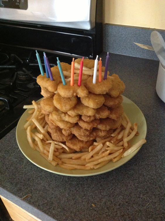 Chicken McNuggets birthday cake!!! Party ideas ...