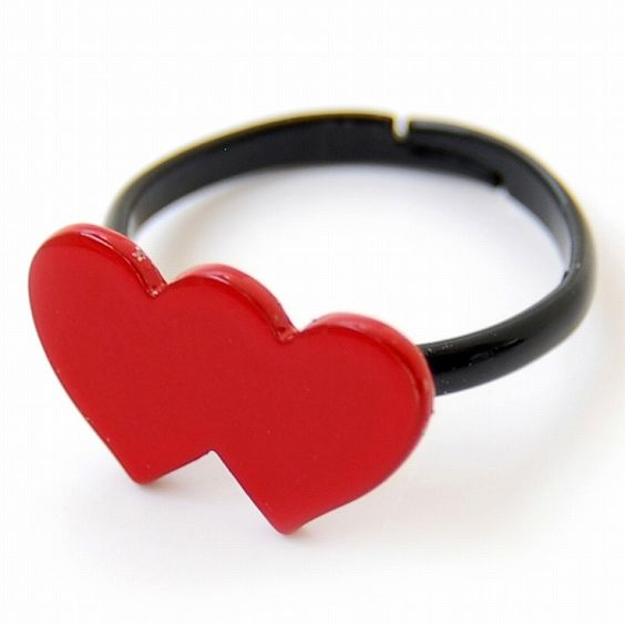Lilou UNITED HEART RING L red
