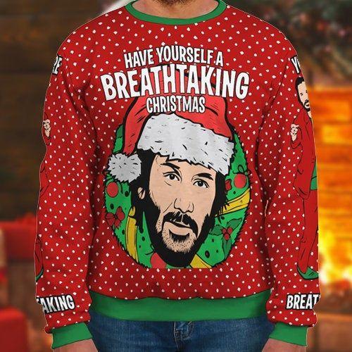 90s Kids Cartoons Christmas Movie Clothing Classics Go Ugly Christmas Sweater Custom Crewneck Unisex Mens /& Women/'s Clothing