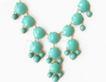 Aqua / Turquoise -: Accessories Necklaces, Statement Necklaces, Aqua Turquoise, Big Sizes, 18 00, Turquoise Bubble Necklace, Bubble Necklaces