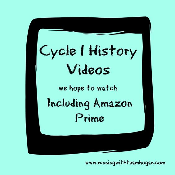 All weeksHere is a list of cycle 1 history videos we hope to