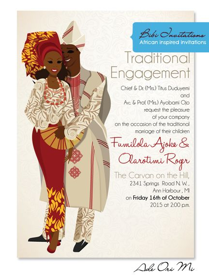 10 African Wedding Invitations Designed Perfectly – Traditional Wedding Invitation Cards Designs