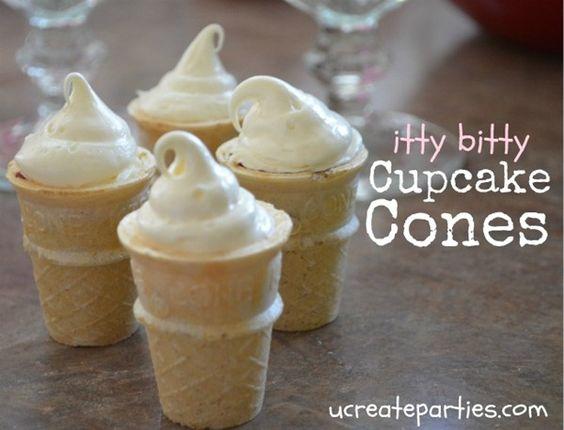 Mini Cupcake Cones