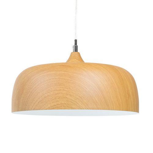 Suspension en m tal effet bois wood dixie maisons du monde mdm luminaires pinterest for Suspension luminaire maison du monde