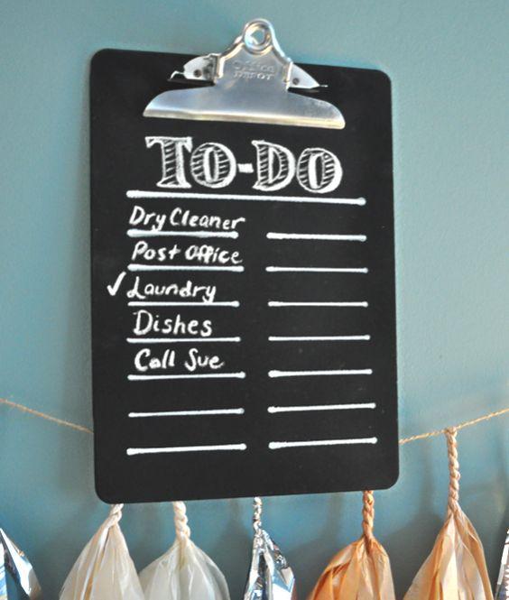 Chalkboard Clipboard on KraftyKath | diy | Pinterest | Clipboards and ...