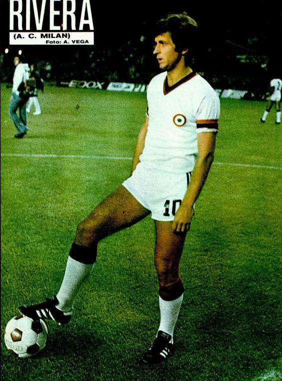 AC Milan captain Gianni Rivera in 1977.