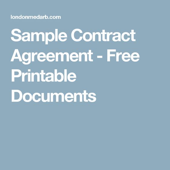 Service Agreement Sample O Natural Pinterest - sample service agreements
