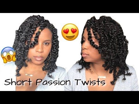 Short Passion Twists Over Locs Rubber Band Method Step By Step