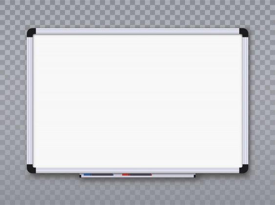 Whiteboard For Markers On Transparent Background Office Board Office Board White Board Transparent Background