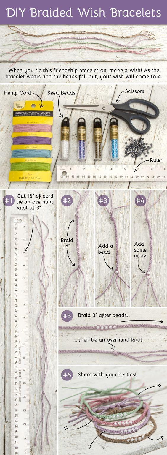 DIY Braided Wish Bracelets   DIY wens armbandjes   www.bykaro.nl voor kralen, bedels en meer...